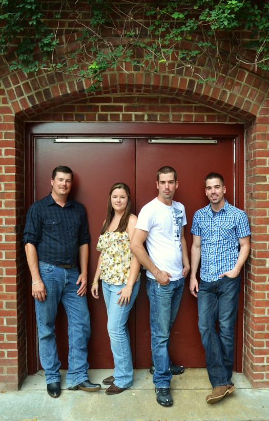 L-R: Brent (33), Ashley(28), Kyle & Joshua (25)