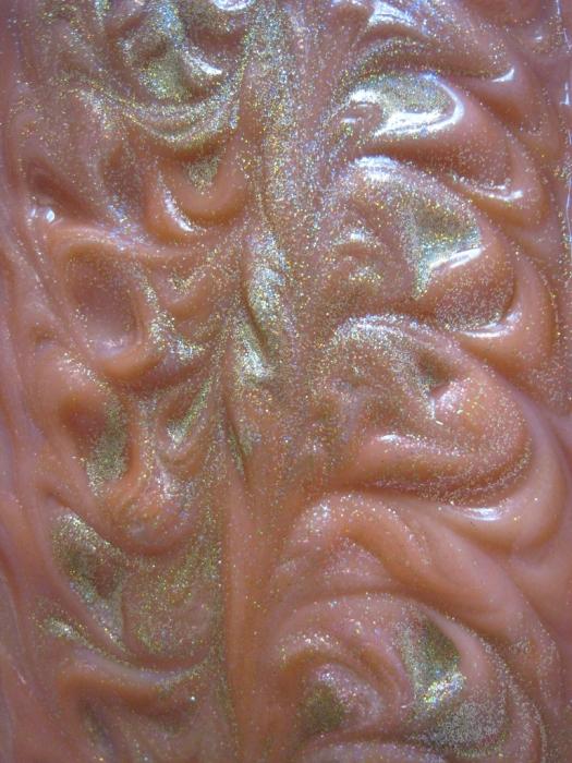 Sunflowers & Sunshine Silk Soap - in the mold