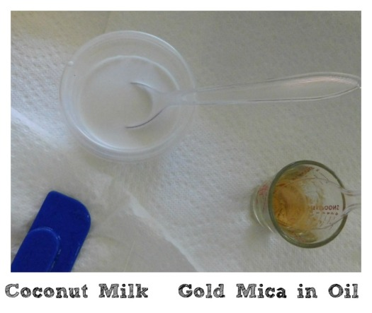 Coconut Milk & Mica in Oil